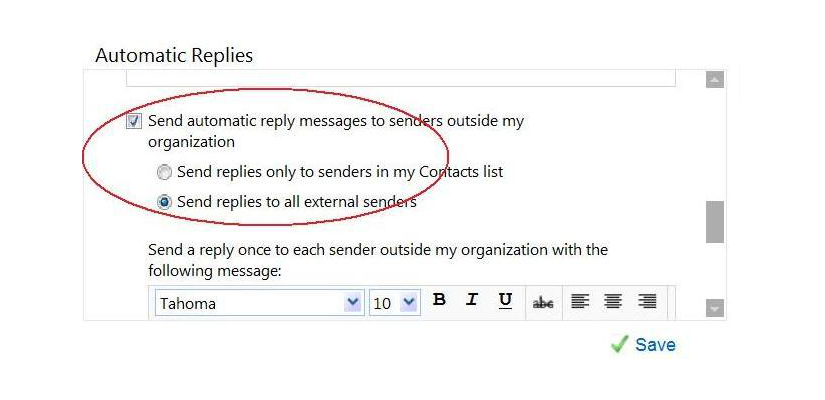 Reminder to set your out of office replies